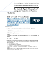 Basic & Applied Concepts of Blood Banking and Transfusion Practices 4th Edition test bank