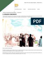 EL VERDADERO CONOCIMIENTO _ Impacto Evangelístico _ Noticias Cristianas