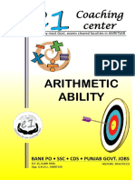 Arithmetic Ability (SSC CGL & BANK PO)