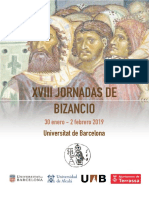 Programa Jornadas de Bizancio 2019