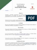 CursoFormaçãoSistemasTelecomunicações