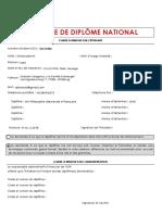 Formulaire Demande Diplome National