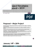 Major Project Timetable and Proposal 2019