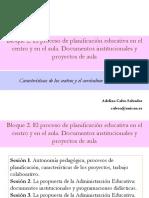 Proceso Planificacion Educativa Centro y Aula Documentos Institucionales y Proyectos Aula