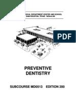 Dlscrib.com Us Army Medical Course Md0513 200 Preventive Dentistry