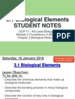 3.1 Biological Elements SN