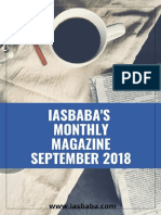 IAS Monthly Current Affairs Magazine SEPTEMBER 2018