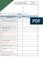 Checklist Auditoria Interna