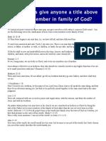 True Family of God