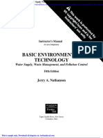 Basic Environmental Technology Water Supply Waste Management and Pollution Control 5th Edition Nathanson Solutions Manual