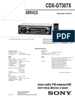 CDX-GT207X MANUAL de SERVIÇO. Auto-radio FM Estereo_am Com Toca-discos a Laser. Brazilian Model. Ver - PDF
