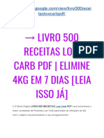 → Livro 500 Receitas Low Carb PDF 2019 | É Balela? Já Tentou de Tudo e Nada??