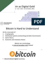 Ferdinando Ametrano - Bitcoin as Digital Gold