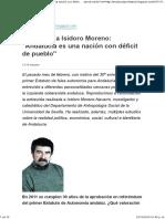 Entrevista a Isidoro Moreno