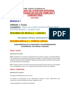 Diplomado Profam Docx Población Sociedad