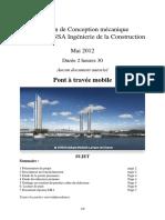 Examen de Conception mécanique 2 ième année INSA Ingénierie de la Construction. Pont à travée mobile.pdf