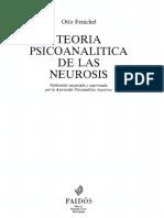 Fenichel Otto - Teoria Psicoanalitica de Las Neurosis