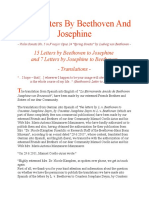 Love Letters By Beethoven And Josephine.doc