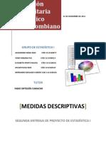 Medidas Descriptivas Estadisticas I Segunda Entrega