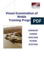 Visual Examination of Welds - Welds 3-14