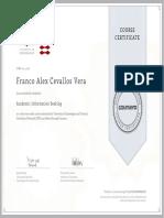 Coursera Certificates - Cevallos Vera Franco Alex