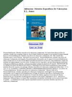 Neurorrehabilitacion Metodos Especificos de Valoracion Y Tratami Ento
