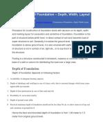 Construction of Foundation