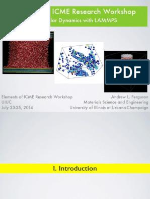 ICME Workshop 140723 | Molecular Dynamics | Force Field