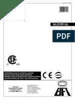 Alcor Ul - 120v - Control Board - Manual