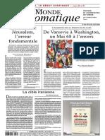 Magazine Le Monde Diplomatique N 766 - Janvier 2018