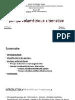 Pompe Volumétrique Alternative