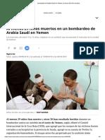 Bombardeo de Arabia Saudí en Yemen, Al Menos 29 Niños Muertos Artículos