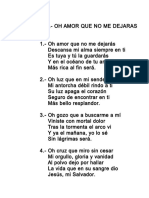 037.- Oh Amor Que No Me Dejaras
