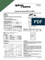 Rompedores de Vacío VB14 y VB21-Hoja Técnica
