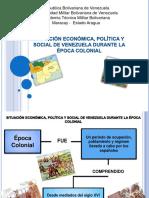 Presentacion Situacion Económica, Política y Social de Venezuela Durante La Época Colonial