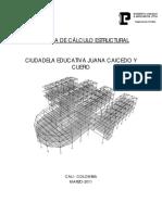 Memoria de Calculo Estructural Edf 4 Niveles Etabs 9.5 Colombia