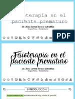 Fisioterapia en paciente prematuro