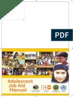 Adolescent Job Aid Manual Fa