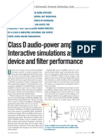 Class D Audio-power Amplifiers - Interactive Simulations
