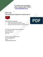 EDUC203 Unit 1 E Content - Ismail Thamarasseri