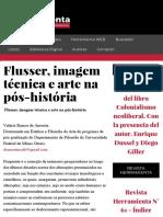 Flusser, imagem técnica e arte na pós-história - Herramienta WEB