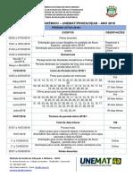 Calendario Academico DEAD 2018