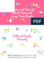 4 Sources and Uses of Short Term and Long Term Funds
