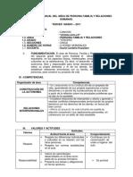 104542589 Programacion Anual Del Area de Persona Familia y Relaciones Humanas