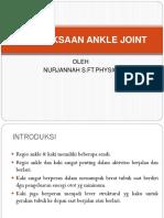5. Pemeriksaan Ankle Joint