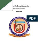 Btu Syllabus i Year 2018 19 (1)