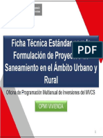 Ficha Técnica Estándar  Saneamiento
