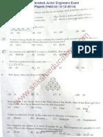 Rrb Junior Engineers Paper