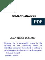 Demand Supply Analysis