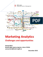 Marketing Analytics - Challenges and Opportunities - Samuel Bird - McGill MBA Japan 2016 - 20151210